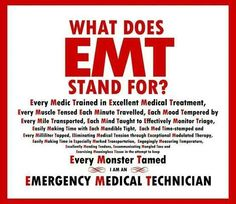 EMT on Pinterest | Paramedics, Trauma and Firefighters