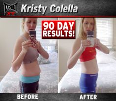 Kristy got rid of the stubborn stomach pouch with TapouT XT!! Check out her new rockin bod!
