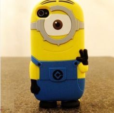 3D Cute Cartoon Despicable Me Minions Soft Silicone Case Cover for iPhone 5 5G 5th from FE CLOTHING