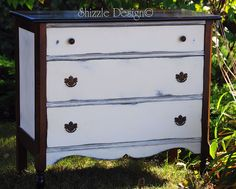 Petite Antique Dresser Painted in Annie Sloan's Old White Chalk Paint
