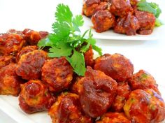 Chicken Meatballs with Chipotle-Honey Sauce