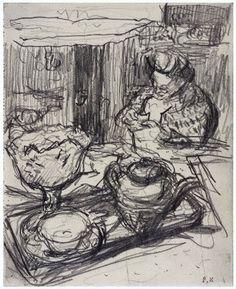 Lady at Tea Table / Edouard Vuillard, 1910-29