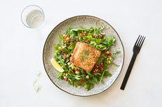 King Salmon & Corn Salad on Munchery