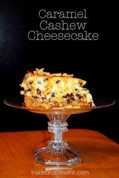 Caramel Cashew Cheesecake