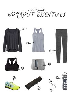 My Workout Essentials  |  The Fresh Exchange