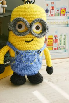 Felted Button - Colorful Crochet Patterns: A Minion Gift