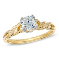 3/4 CT. T.W. Diamond Twist Engagement Ring