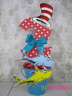 Dr. Seuss Centerpiece for a Dr. Seuss Birthday Party