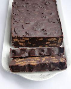 Chocolade cake met speculaas