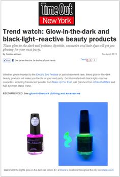 Beauty Trend Alert: Glow in Dark Nails!