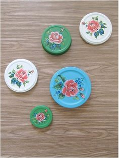 decal & spray paint jar lids