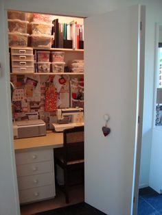 small sewing room hidden away