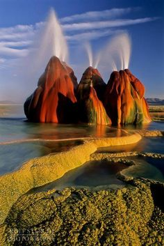 Fly Geyser- Black Rock Desert, Nevada, USA