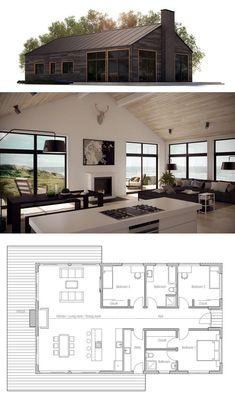 House Plan, Modern F