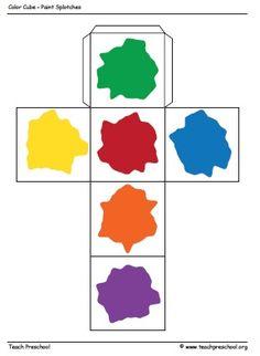 Free printable Paint Cube from Teach Preschool via www.preschoolspot.com #preschool