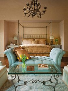 Like the combination of turquoise with the neutrals