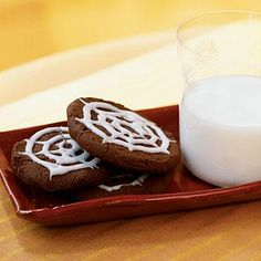 Chocolate Spiderweb Cookies | CookingLight.com