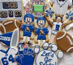 Flour Box Bakery — Football Cookie Collection sports gifts, cooki idea, sport cooki, flour, bakeries, penn state, boxes, football decorated cookies, decor cooki