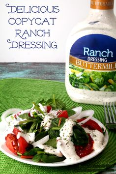 My creamy, delicious, Copycat Ranch Dressing is made with quality ingredients to help make my family a little healthier. Plus, it tastes GRE...