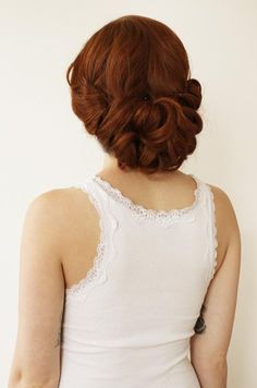 Bridal Hair Styles, Up-Do, Wedding Hair, Curls, Vintage Hair Style || Colin Cowie Weddings