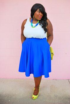 Musings of a Curvy Lady: Balancing Act #MusingsofaCurvyLady #PlusSizeFashion #PlusSizeBlogger #WomensFashion #FullSkirt #CircleSkirt @ASOS.com @ShoeDazzle @Deb Shops #Summertime #SummerOutfit #OOTD#curvystyle