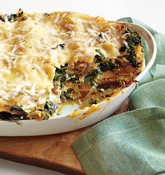 Spinach Lasagna from Epicurious.com #myplate #veggies #dairy