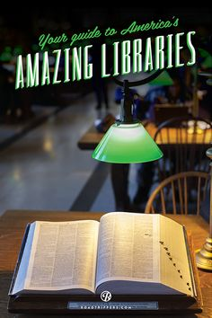 These seven amazing US libraries are a perfect destination for any literary lover. Sounds like a fun field trip!