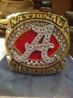Bama championship ring hat