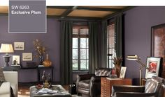 Exclusive Plum (SW 6263), a sophisticated violet, is the 2014 Sherwin-Williams Color of the Year.  New laundry room color??