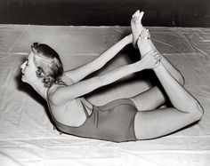 Vintage Yoga. I love this pose.
