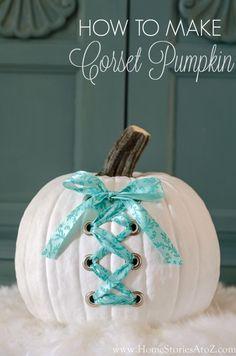 Cute and easy DIY corset pumpkin tutorial.
