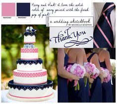 navy and fuschia