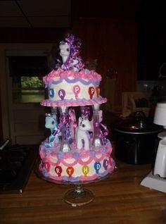 Pony Carosel Birthday Cake