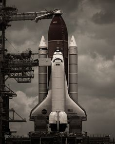 I love this image of Endeavour on the pad by Dan Winters... #photography #nasa #endeavour