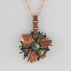 Spider In Her Web Garden Necklace by oscarcrow on Etsy, $28.00
