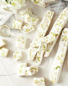 Nougat Blanc with Almonds & Pistachios / Sweet Paul