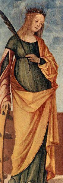 Vittore Carpaccio: St. Catherine of Alexandria  c. 1500, Tempera on panel.