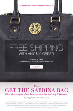 Extended! Avon Free Shipping on your $20 order! Use coupon code: FS20 - Exp: midnight 9/19/14 at http://eseagren.avonrepresentative.com