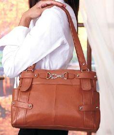 $34.15 New Genuine Leather All Occasion Carryall Handbag * Free Shipping & Points | yardsellr - bit_ly/OsxJPO