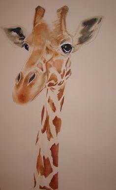 I love giraffes in art - girart xx