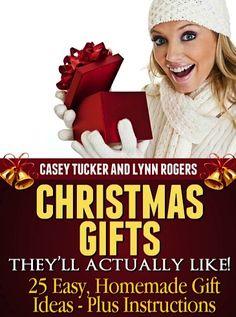 christmas gift ideas, kindl book, 25 easi, homemade christmas gifts, christma gift