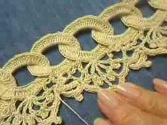 ▶ Orilla # 9 Circulos en Crochet parte 2 de 2 - YouTube