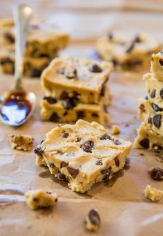Chocolate Chip Cookie Dough Bars? Yes, please!