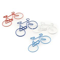 Bicycle' Clips | Four page markers/ large paperclips; one of each colour as shown. Size: 6cm x 3cm - 3.50 Pounds