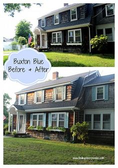 Before and after exterior makeover!