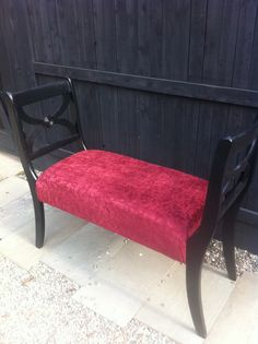 Upcycled dining chairs repurposed into bench seating.