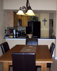 Dining room in unit A116, Inverness at New Braunfels