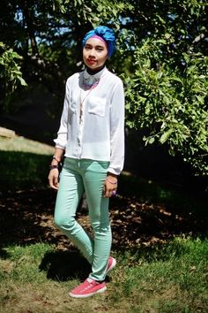love the sheer shirt and light pants mmmmmmmmmmm