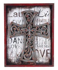 Framed Cross Wall Art wall art, cross wall, frame wall, artist cross, frame cross, decor cross, crosses, art zulilyfind, zulili today