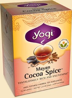 Yogi Tea Mayan Cocoa Spice™ Tea:  found in nearly any health food store, and sometimes even the normal groceries stores.